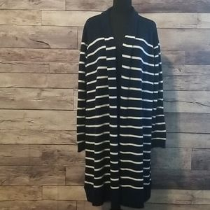SOFT & COZY OLD NAVY STRIPED CARDIGAN